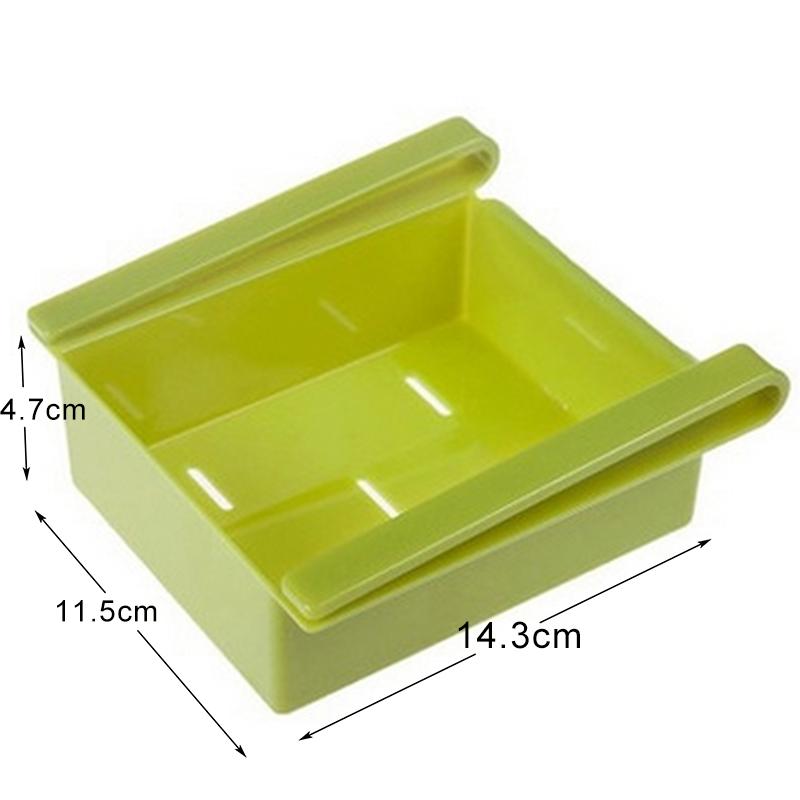 Economic refrigerator storage box fresh spacer layer storage rack creative kitchen supplies twitch type drawer 4