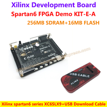 Development Board Xilinx Spartan6 XC6SLX9(256M SDRAM EEPROM FLASH SD card Camera VGA interfaces)+USB Download Cable=Demo KIT-E-A