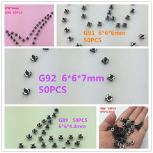 250PCS/SET YT2068 6*6*4.3/5/6/7 MM 4PIN SMT Tactile Tact Push Button Micro Switch Self-reset DIP Top Copper 5 Kinds High Quality(China)