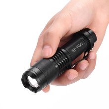 Super IR Lamp 850nm 7W Zoom Infrared Light Flashlight Hunting Torch Lamp Night Vision Use 1x18650battery