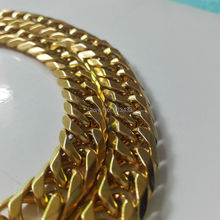12mm 23.6''  High Quality Gold Stainless Steel Miami Cuban Curb Chain Necklace in Boys Men Bling Jewelry Never Fade