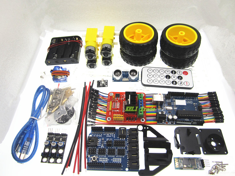Multifunction Bluetooth Controlled Robot Smart Car Kits For Arduino uno<br><br>Aliexpress