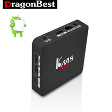 KM8 PRO Android 6.0 Marshmallow TV BOX Amlogic S912 Octa Core 2GB 16GBBluetooth 2.4G/5GHz Dual WIFI LAN Media Player