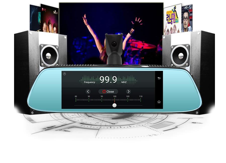 "Junsun 8"" 4G Special Mirror Car DVR Camera Android 5.1 with GPS DVRs Automobile Video Recorder Rearview Mirror Camera Dash Cam 27"