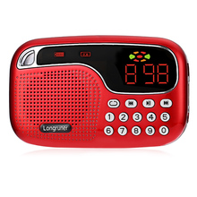 LONGRUNER L - 21 JM2021 Mini FM Radio Speaker TF Card USB Disk Audio Files Playing MP3 Player(China)