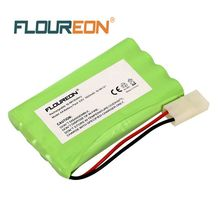 Floureon 8 Cell AA(4*2) 9.6V 1800mAh Ni-Mh Rechargeable Battery With Tamiya Connector Replacement for RC Battery(China)