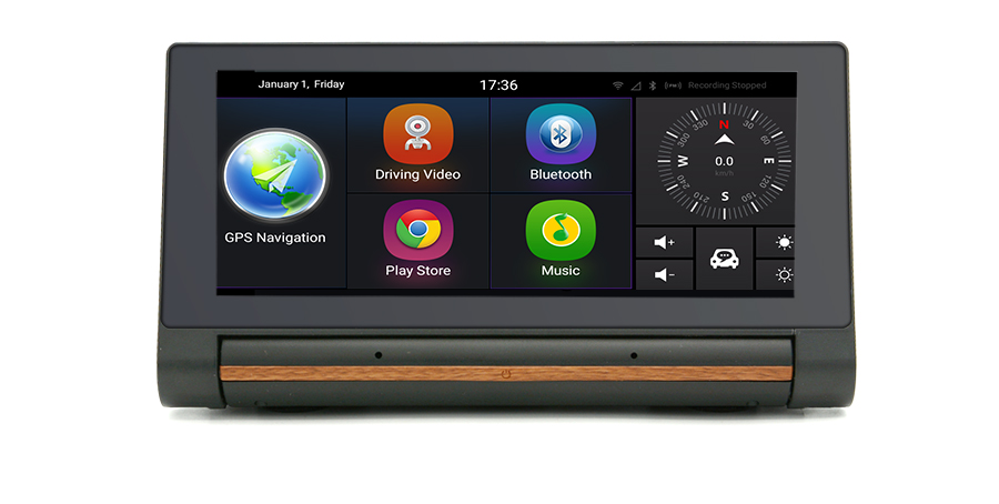 "Junsun 3G Car DVR GPS Camera 6.86""Android dash cam Full HD 1080p Video recorder Wifi Bluetooth registrator Dual lens dvrs Camera 36"