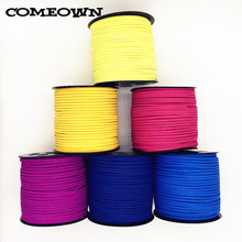 COMEOWN 5m 3x1.5mm Flat Faux Suede Korean Velvet Leather Cord String Rope Lace Thread for DIY Bracelet Necklace Jewelry Findings(China)