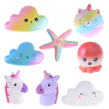 Squishy Jumbo Starfish Unicorn Cloud Slow Rising Phone Charms Scented Toys Gift Mobile Phone Straps(China)