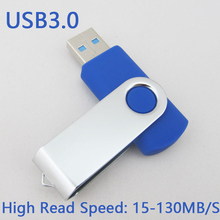 Cheap Usb 3.0 Swivel Metal Usb Flash Drive 64GB Pen Drive 32GB Pendrive 16GB 8GB Gift Memory Stick Disk On Key 128GB 256GB 512GB(China)
