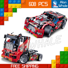 608pcs 3360 2in1 Technic Limited Edition Set Race Truck Model Building Blocks Bricks Boys Toys Compatible with Lego(China)