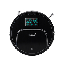 (Free to Europe) Eworld M883 Automatic Robotic Vacuum Cleaner for Home with LCD Remote Control, Bigger Dust box(China)
