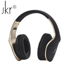 JKR-102 Stereo Headphones Foldable Over Ear Headphone with Microphone Headset Headfone auriculares for Cell Phone mp3 Player PC