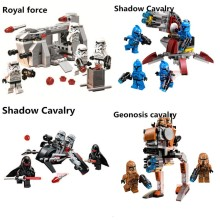 STAR WARS Building Blocks Royal Army Transport Aircraft Clone Troops Trooper Mini Bricks Figures Toys Compatible with legoeINGly(China)