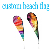 custom 100% polyester beach flags advertising outdoor banners without flagpoles