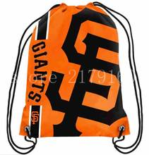 35*45 cm SF giant logo drawstring backpack made knitted polyester with black rope Metal Grommets(China)