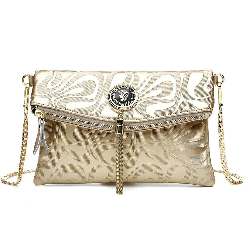 designer women messenger bags clutch bag famous brand women envelope clutch real leather small crossbody Shoulder Bag purses<br>