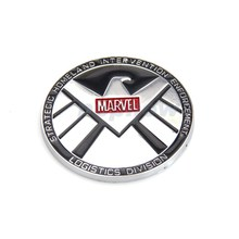 1x The Avengers Marvel's Agent of S.H.I.E.L.D Loog Car Styling Metal Emblem Car Truck Body Decal Sticker For Chevrolet#7157