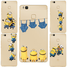 Most popular Soft Silica TPU Cover Anti falling mobile phone shell Minion Mickey Cute Funny For Huawei P8 P8 Lite P9 P9 lite