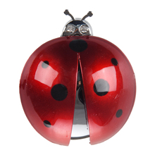 AUTO New Dark Red Plastic Car Air Vent Ladybug Design Fragrance Purifier Freshner(China)