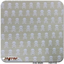TSY116 Decorative Material 50 Square Width 0.5m Skull Pattern Hydro Graphic Printing Film Hydrographics Transfer Films