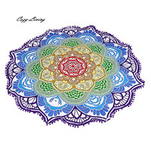 Table Cloth Round 1 PC Beach Pool Home Shower Towel Blanket Table Cloth Yoga Mat 150CM Floral Print Tablecloth Wholesale JA4