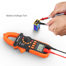 Meterk Digital Current Clamp Meter AC/DC Voltage Clamp Multimeter Capacitance Resistance Frequency Diode Hz Tester Auto-rangingw(China)