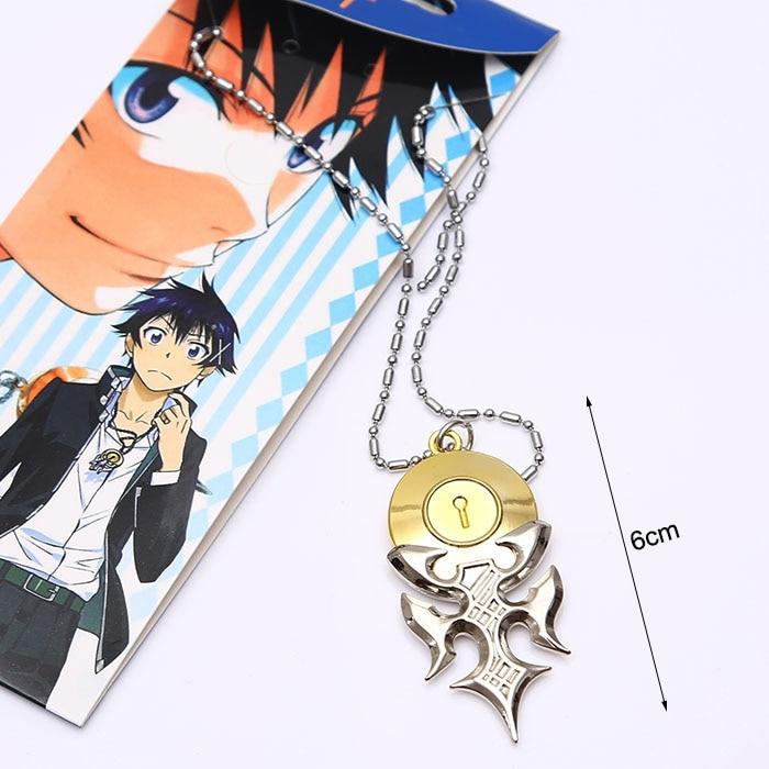 Anime Nisekoi Fake Love Ichijo Raku Key Lock Pendant Alloy Necklace Cosplay Gift