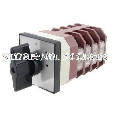 380V/AC 220V/AC 4 Position Rotary Cam 16 Screw Terminals Changeover Switch<br><br>Aliexpress