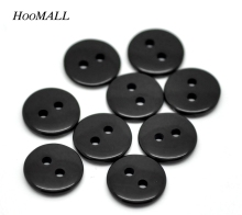 Hoomall Brand 500PCs Buttons For Clothing Black Round 2 Holes Resin Buttons Scrapbooking Sewing Buttons Scrapbooking 11mm(China)