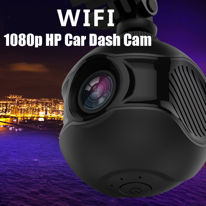 WIFI No Screen 1080P HD Night Vision Car Driving Recorder Car Dash Cam Car Black Box 360 Rotation(China (Mainland))