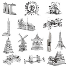 3D Metal Building Puzzle LUCKY PIGLET Mini Fun Finger DIY Adult Jigsaw Assembling Model Children Educational Toys 20PCS