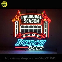 Neon signs Busch Beer San St Louis Cardinals NFL Sports Neon Bulb Sign Handcraft Beer Sign Room Custom neon light signs 26x26(China)