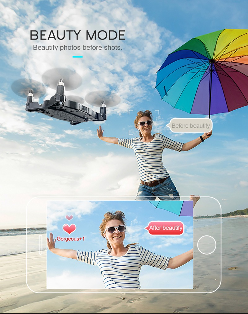 Free Mini Drone with Discounted H49 SOL Ultra-thin Wifi FPV Selfie Drone 7P Camera Auto Foldable Arm Altitude Hold RC Quadcopter 15