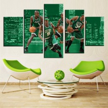 Fashion Basketball Poster Best Gifts Wall Art Photo Room Decor 5 Pcs/Set Oil Painting On Canvas No Frame