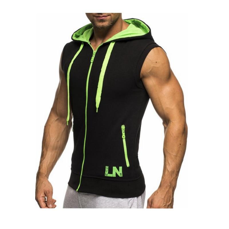 Male Bodybuilding Hoodies Fitness Clothes Hoody Cotton Hoodie Men Sweatshirts Men's Sleeveless Tank Tops Casual Vest 8