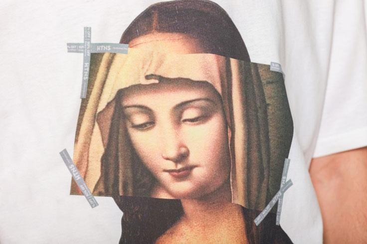 Virgin Mary Mona Lisa Printed Tshirts 5
