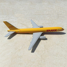 1/400 Scale Diecast Airplanes Model Toys Yellow DHL Express Delivery Aircraft Boeing 757-200 B757 w/Demonstration Base Model Gi