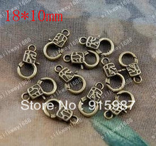 Sweet Bell 50PCS/lot 18*10mm lobster clasp DIY accessories wholesale bronze clasp design restoring ancient ways lobster clasp
