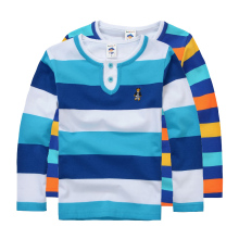 High Quality Boys T shirts Long Sleeve Children Sweaters Stripe Pattern Baby Boys Girls Unisex Tops Brand New Fashion Tees(China)
