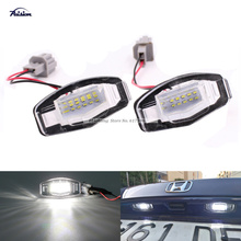 2Pcs No Error  White 18SMD LED Number License Plate Light For Honda Civic EM2/ES7 City Legend Accord Acura TL TSX MDX
