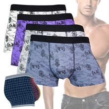 Men Underwear Boxers Cotton Sexy Shorts Funny Skull Male Comfortable Underpants#U102K#