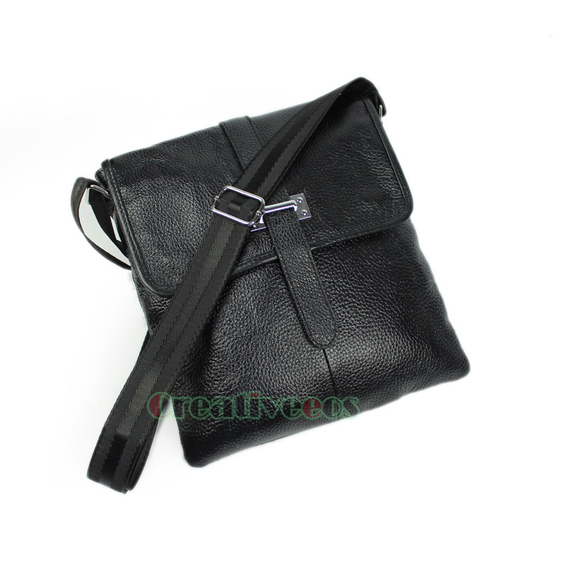 New Mens Genuine Leather Fashion Flat Cross body Messenger Shoulder Business Briefcase Casual Bag<br><br>Aliexpress