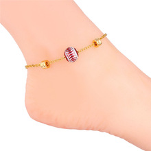 Women Anklet Foot Jewelry Leg Chain Lantern-Pattern Indian Anklet Jewelry Anklet Designs Foot Accessories Wholesale A202(China)