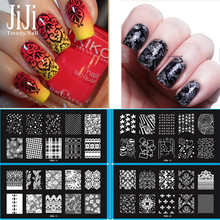 1pcs Mixed Designs Unique Nail Art Template With White Pad Polish Image Stamp Stamping Plates JILesCool01-20