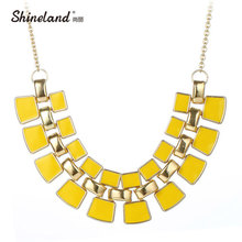 New Statement Choker Fashion Charms Blue Black Red Yellow Enamel Maxi Choker Necklaces&Pendants For Women Girl  2017 Nice Gift