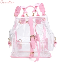Ocardian NEW Women's Clear Plastic See Through Security Transparent Backpack Bag Travel Bag Casual  1 pcs Drop Shipping #0626(China)