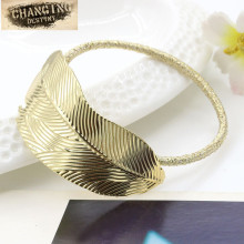 2 Pcs / Lot Women's Headdress Hair Ring Collar Fine Metal Retro Leaves Head Flower Hair Accessories
