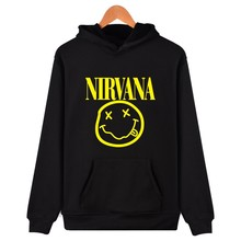 Hot Fashion Autumn & Winter Hoodies NIRVANA Band Design Hooded Sweatshirt Sudaderas Hombre Hip Hop High Quality Brand Clothing