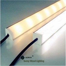 5pcs/lot 0.5m/pc 45 degree corner aluminum profile with 5050 led strip ,12v 6w bar for kitchen ,armoire,cove or cabinet light(China)